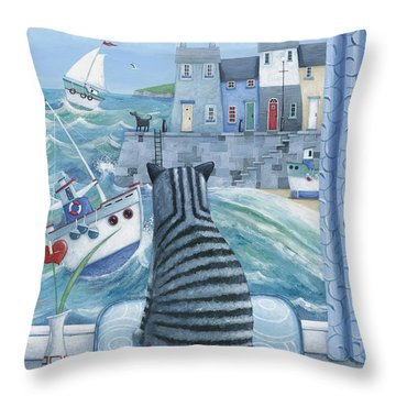 Rather Mew Throw Pillow by Peter Adderley