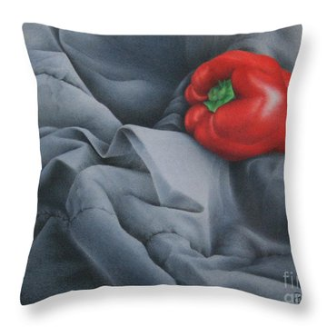 Throw Pillow featuring the painting Rather Red by Pamela Clements