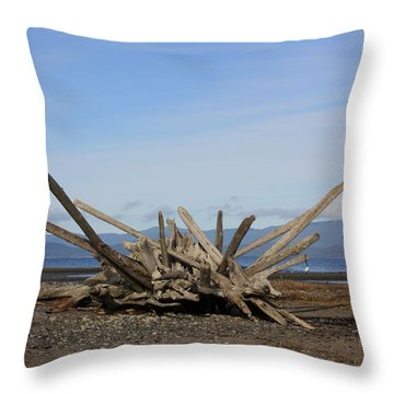 Rathtrevor Beach Throw Pillow by Gerry Bates