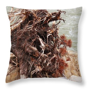 Ravaged Roots Throw Pillow
