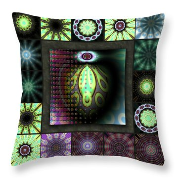 Ravaged Visions Redux Throw Pillow