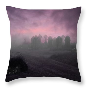 Rave In The Grave Throw Pillow by Terri Waters