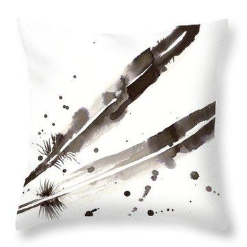 Raven Crow Feathers Throw Pillow