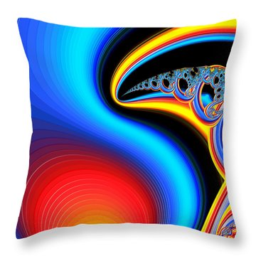Raven, Dreaming By The Fire Throw Pillow