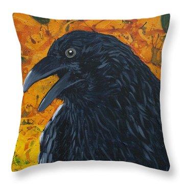 Raven Festival Throw Pillow