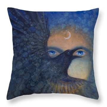 Raven Heart Throw Pillow