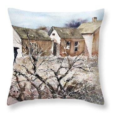 Raven Roost Throw Pillow