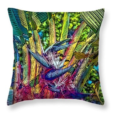 Throw Pillow featuring the photograph Ravenala by Hanny Heim