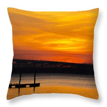 Orange Blaze Throw Pillow by Dale Powell