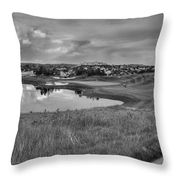 Throw Pillow featuring the photograph Ravenna Golf Course by Ron White