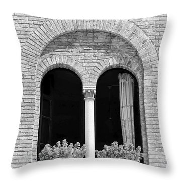 Ravenna Window Mono Throw Pillow