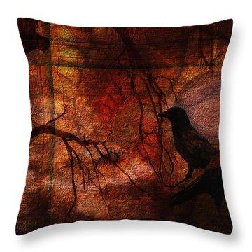 Ravens World Edited Throw Pillow