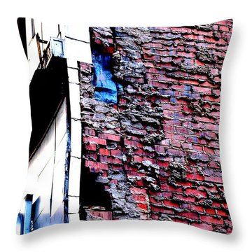 Throw Pillow featuring the photograph Raw Brick Bones by Christiane Hellner-OBrien
