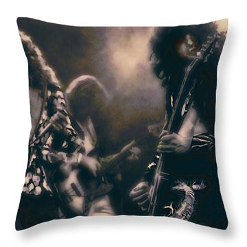 Raw Energy Of Led Zeppelin Throw Pillow by Daniel Hagerman