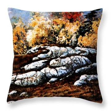 Raw North Throw Pillow by Hanne Lore Koehler