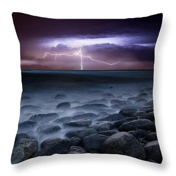 Raw Power Throw Pillow by Jorge Maia