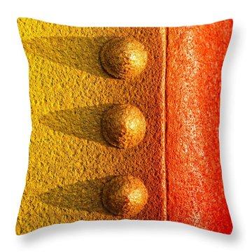 Raw Steel Throw Pillow