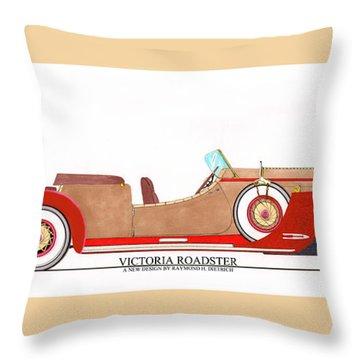 Ray Dietrich Packard Victoria Roadster Concept Design Throw Pillow by Jack Pumphrey