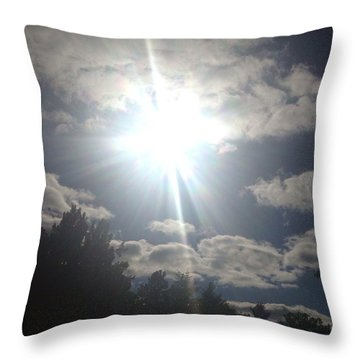 The Sun Throw Pillow by Lisa Piper