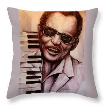 Ray The Print Throw Pillow by Lloyd DeBerry