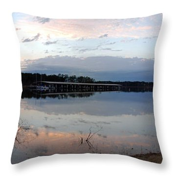 Rayburn Boat Docks Throw Pillow