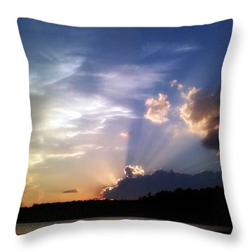 Rayburn Rays Throw Pillow