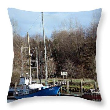 Raymond Fishing Boats Throw Pillow