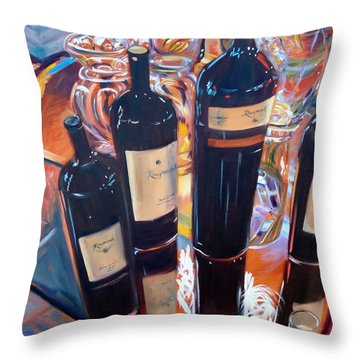 Raymond Vineyards Crystal Cellar Throw Pillow