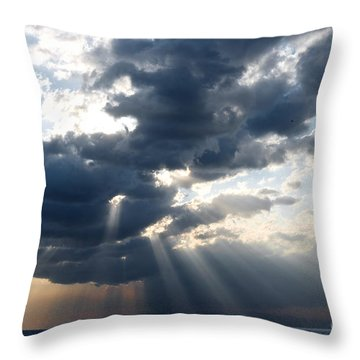Rays And Clouds Throw Pillow by Antonio Scarpi