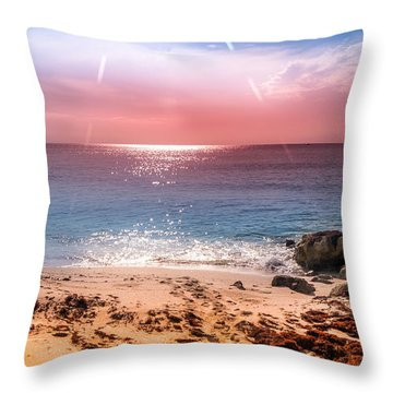 Rays Of Light Throw Pillow by Louis Ferreira