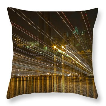 Throw Pillow featuring the photograph Rays Over The Bay by Gary Holmes