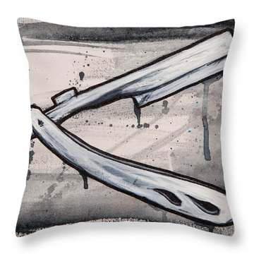 Razor Finish Throw Pillow by The Styles Gallery