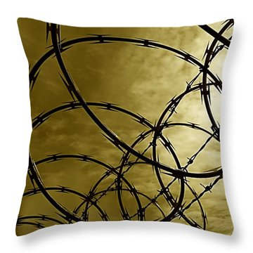 Razor Sharp Throw Pillow