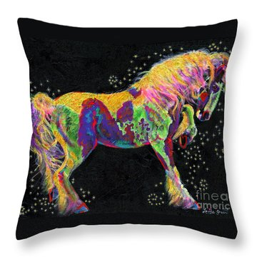 Razzle Dazzle Gypsy Cob Throw Pillow by Louise Green