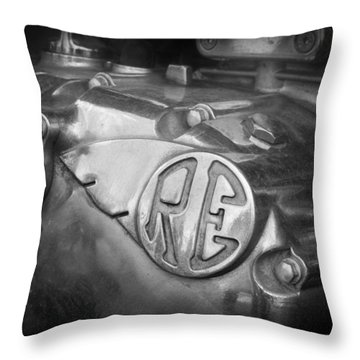 Re Royal Enfield Throw Pillow
