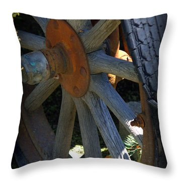 Re-tired Throw Pillow