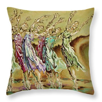 Fire Dance Throw Pillows
