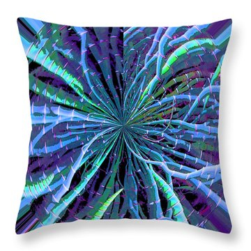 Throw Pillow featuring the photograph Reach Of The Bamboo Forest by Ann Johndro-Collins