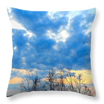 Reach Out And Touch The Sky Throw Pillow