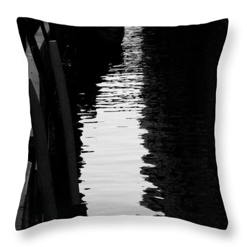 Reaching Back - Venice Throw Pillow by Lisa Parrish