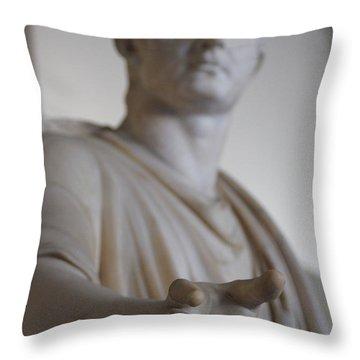 Reaching Throw Pillow by Debi Demetrion