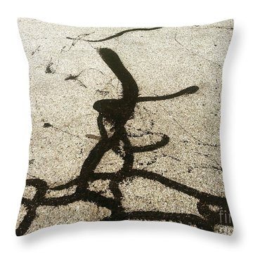 Reaching Throw Pillow by Fei A