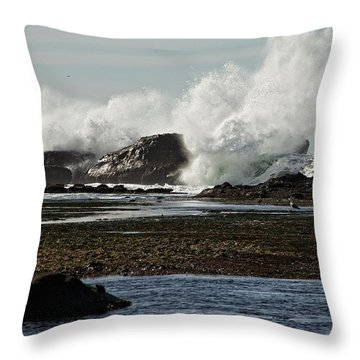 Throw Pillow featuring the photograph Reaching For The Sky by Dave Files