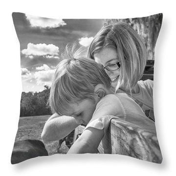 Throw Pillow featuring the photograph Reaching by Howard Salmon