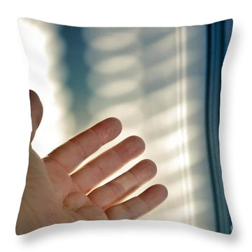 Reaching Out Throw Pillow by Amy Cicconi