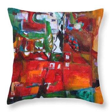Reaching Out Throw Pillow by Becky Kim