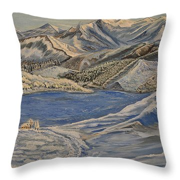 Reaching The Dream - Painting Throw Pillow by Felicia Tica