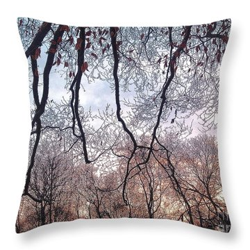 Throw Pillow featuring the photograph Reaching For Each Others by Delona Seserman