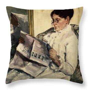 Reading Le Figaro Throw Pillow