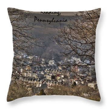 Reading Pennsylvania Throw Pillow